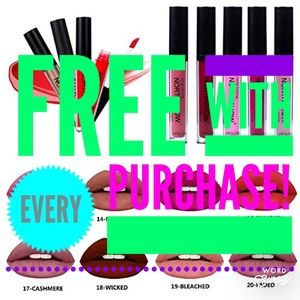 PURCHASES COME WITH A FREE LIPSTICK! 💋